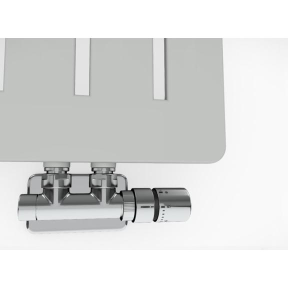 TERMA Aero V dizajnový radiátor - rôzne farebné prevedenia RAL7035 detail