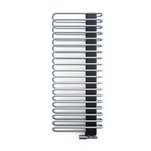TERMA Michelle dizajnový radiátor 1200x500 Chrome a Metallic Black