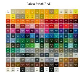 Farby Terma - farebné prevedenia RAL - široká paleta farieb na výber