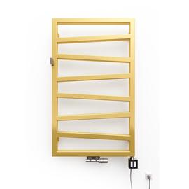 TERMA Zigzag elekrický kúpeľňový radiátor 835x500 farba Gold Gloss