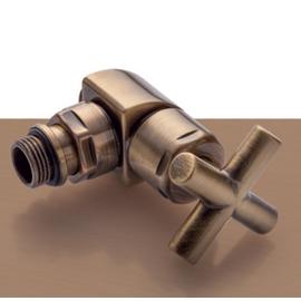 Bronzová manuálna sada ventilov Minimal - rohová