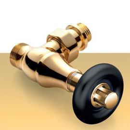 Zlatá termostatická sada ventilov Old Style - rohová