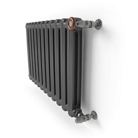 TERMA Bart článkový radiátor farba Flat Black