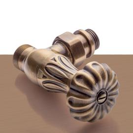 Bronzová manuálna sada ventilov Floral Old Style - rohová