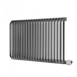 TERMA Delfin elektrický dizajnový radiátor 540x820 farba Metallic Grey