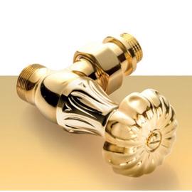 Zlatá manuálna sada ventilov Floral Old Style - rohová