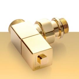 Zlatá manuálna sada ventilov Esedra - rohová