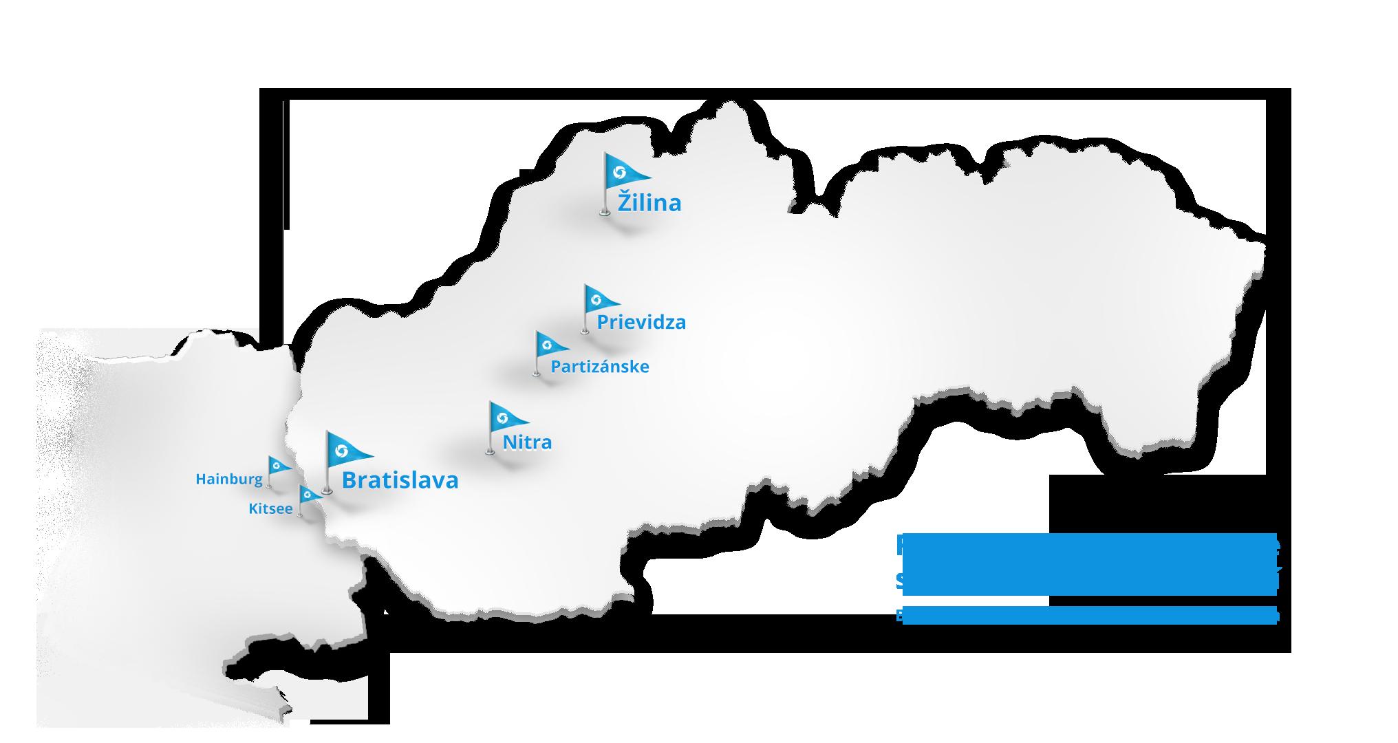 Mapa pôsobenia Dobráklíma