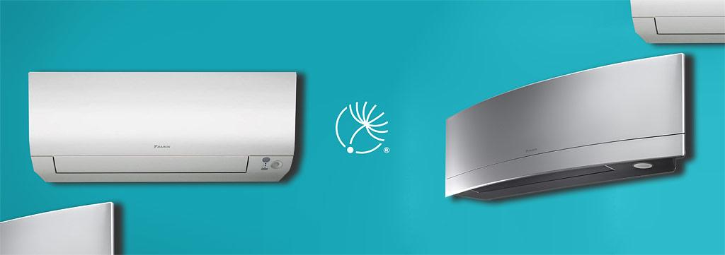 Úvodný obrázok, koláž klimatizácií, logo Dobráklíma